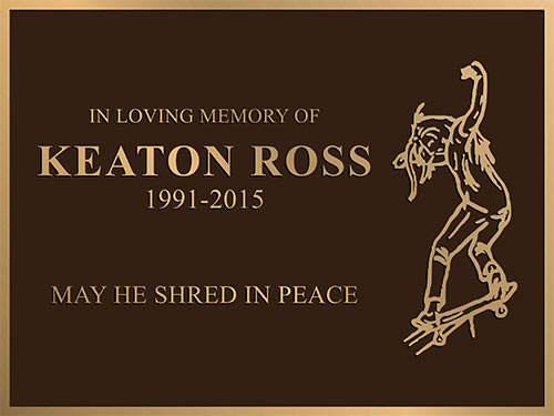 bronze memorial plaques, bronze memorial plaque, memorial plaque