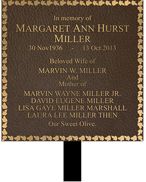 cast bronze plaque