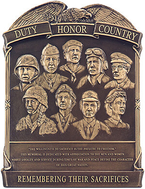 3d bronze military plaques duty honor country