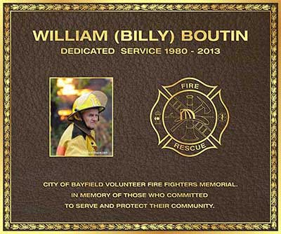 color photo bronze plaque, custom border Bronze plaque, firefighter color photo plaque, maltese cross bronze plaque