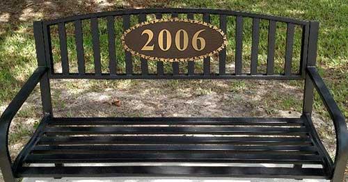 Superb Bronze Bench Plaque