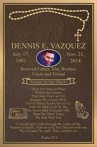 full color bronze memorial plaques