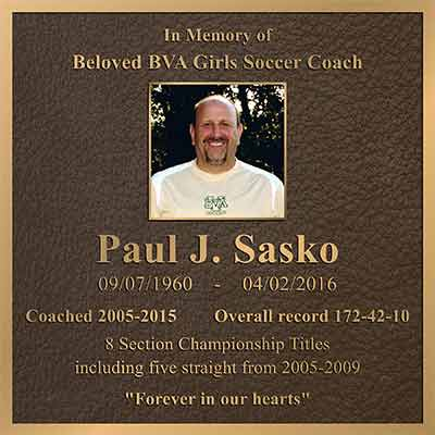 color photo bronze memorial plaque, bronze memorial plaques