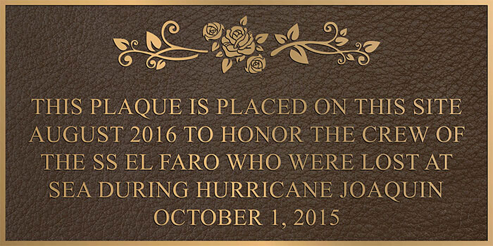 color bronze memorial plaques