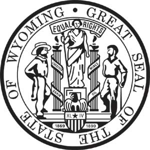 wyoming bronze state seal, wyoming bronze plaque