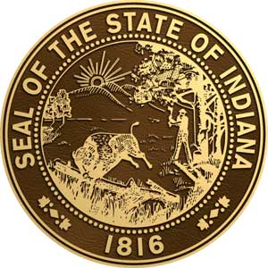 indiana bronze state seal, indiana bronze state seals