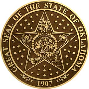 oklahoma bronze state plaques, oklahoma bronze state seals