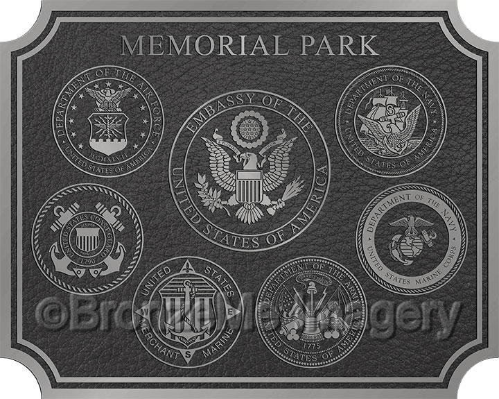 military bronze plaques, military bronze seals, military bronze emblems