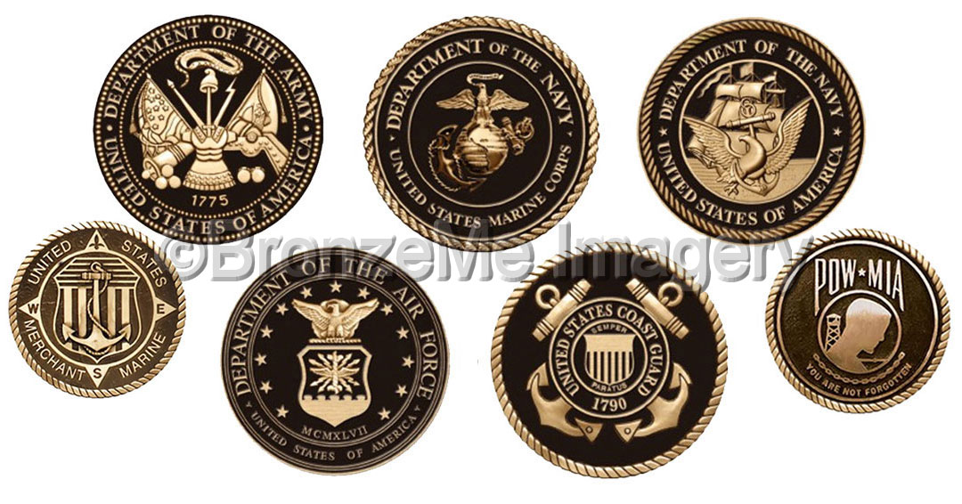 military plaques military seals military emblems