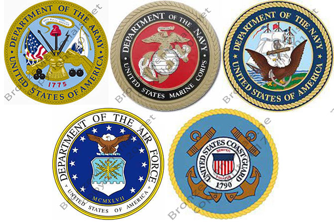 color Military Seals, Painted color Military Seals,
