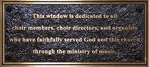 church plaques, bronze church plaque