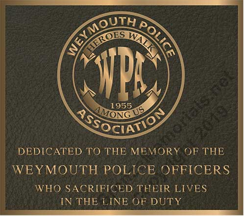police plaque, police plaques with badge, bronze police plaque