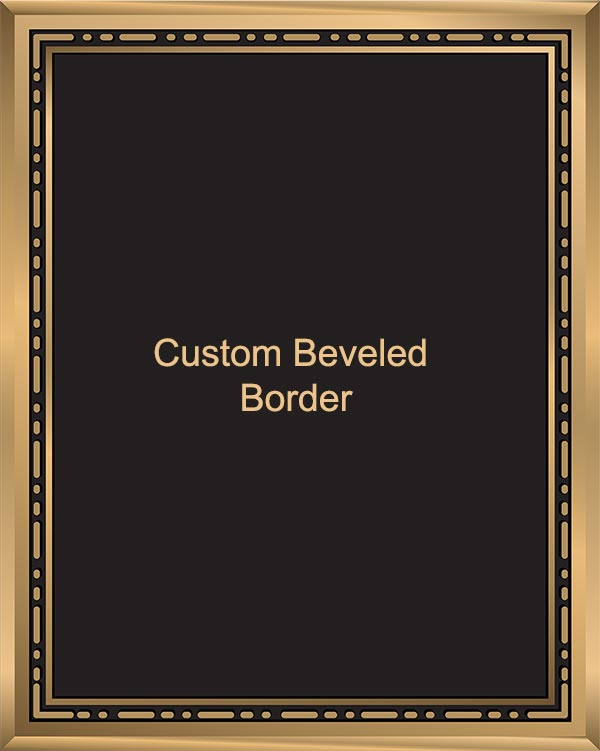beveled custom border