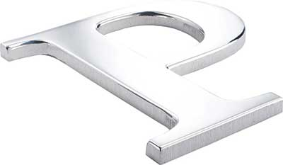 flat cut metal letter stainless steel