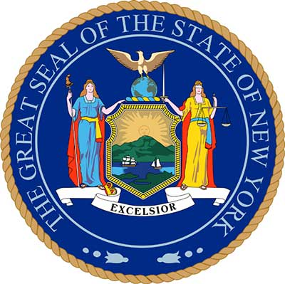 full color new york state seal