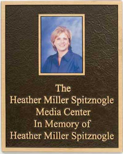 photo plaques, bronze photo plaque, color photo plaques