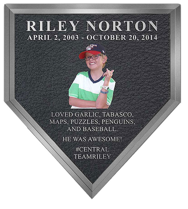 Baseball HomePlate Plaque
