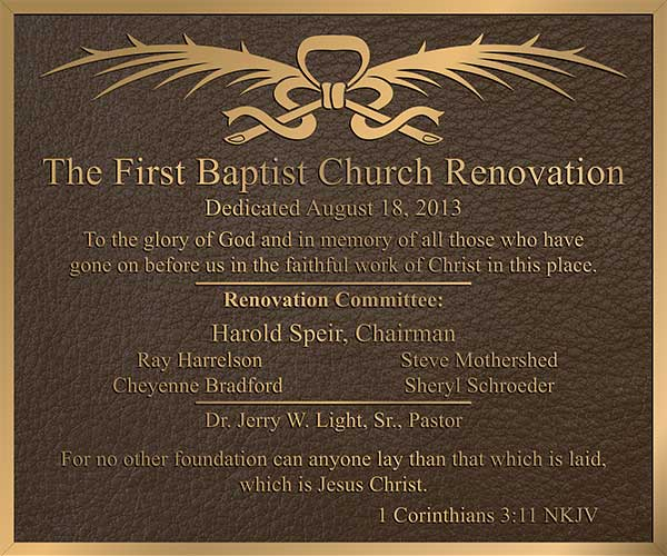 church plaque, Church plaques, church plaques