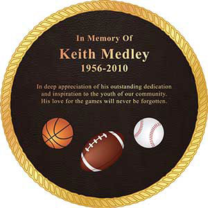 custom bronze plaque, custom bronze plaque with bubble top shape