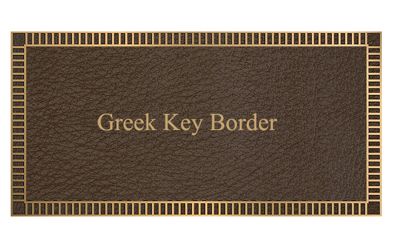 greek key custom border