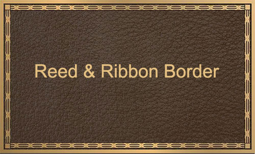 reed & ribbon custom border