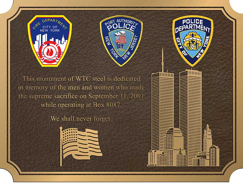 New York Firefighter plaque, photo New York Firefighter plaques, bishop New York Firefighter plaque