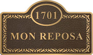 bronze plaque address review