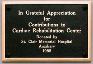 donor plaques and wording | just b.CAUSE