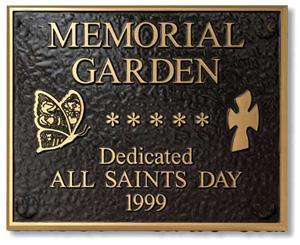 Church Plaques, FREE shipping on orders OVER $750 , Fast 8 Days, Low Prices, Memorial Plaques, 3d Photo Engraved Bronze, Outdoor Garden Plaques, Brass, Aluminum, Etched Bronze Plaques, Cast Metal Plaque, Stainless Steel