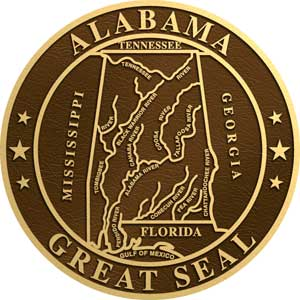 state seal alabama, state plaque alabama