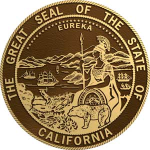 bronze state seal california, bronze state plaque california