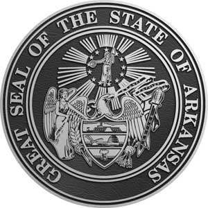 state seal arkansas, state plaque arkansas
