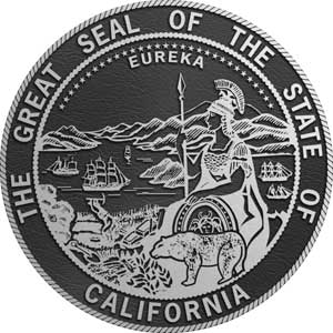 Aluminum State Seal california, bronze state plaque california