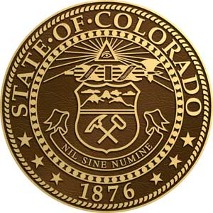 bronze state seal colorado, colorado cast bronze state seal