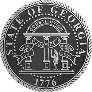 aluminum state seal georgia, metal state plaque georgia