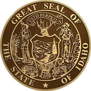 idaho bronze state seal, idaho bronze state seals