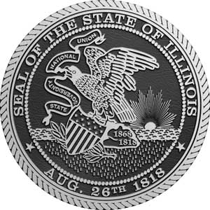 illinois Aluminum State Seal, illinois Aluminum State Seals