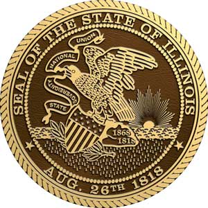 illinois bronze state seal, illinois bronze state seals