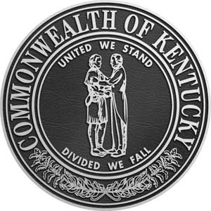 kentucky Aluminum State Seal, kentucky state seal cast aluminum