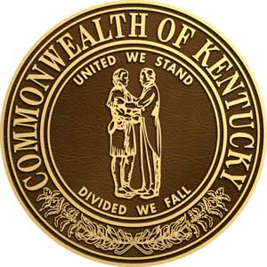 kentucky bronze state seal, kentucky state seal bronze
