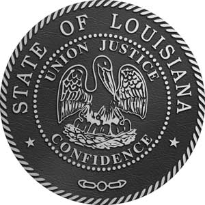 Louisiana Aluminum State Seal, Louisiana aluminum state plaque