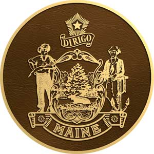 maine bronze state seal, maine bronze plaque