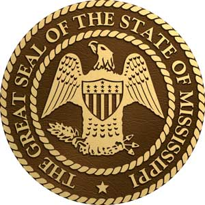 Mississippi bronze state seal, Mississippi bronze plaque