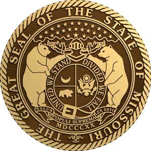 Missouri Bronze state seal, Missouri Bronze state plaque