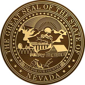 bronze state seal nevada, nevada bronze plaque