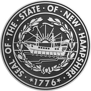 Aluminum State Seal new hampshire, Aluminum state plaque new hampshire