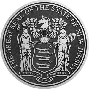 Aluminum State Seal New Jersey, aluminum state plaque New Jersey