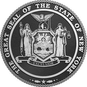 Aluminum State Seal new york, Aluminum state plaque new york