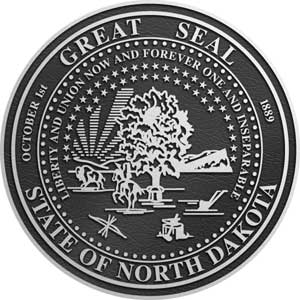 north dakota aluminum state plaques, north dakota Aluminum State Seals