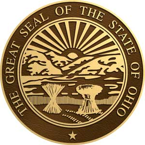 ohio bronze state seal, ohio bronze state plaques